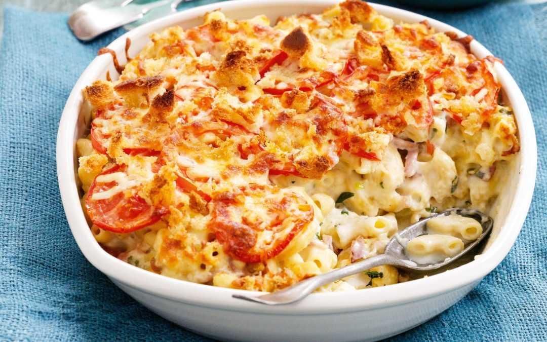 Receta de cocina: macarrones con queso al horno clásicos
