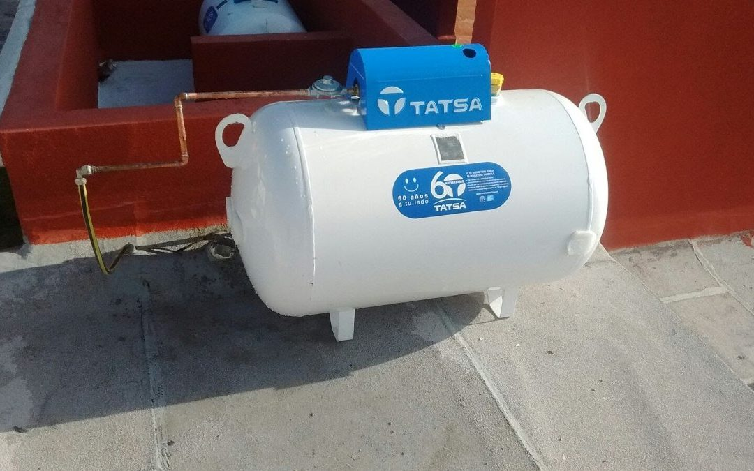 Tanque de gas estacionario de calidad en el Valle de México