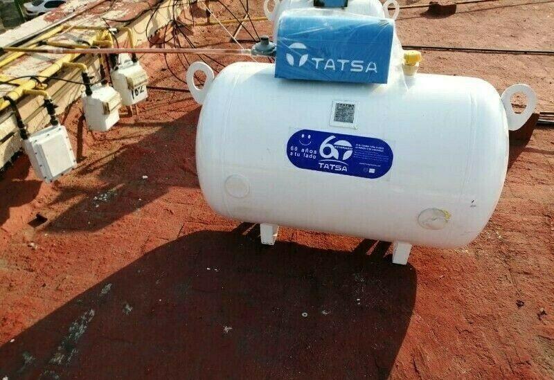 Instalacion de tanque estacionario de Gas LP con GasLink